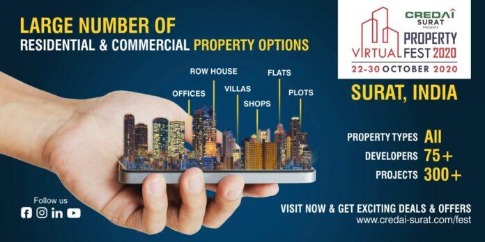 World Diamond & Textile Capital Hosts Biggest Virtual Property Show : CREDAI-Surat Virtual Property Fest 2020