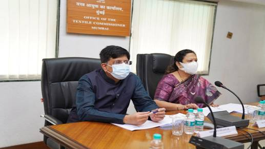 Union Textile Minister Shri Piyush Goyal takes review of Textile Sector Policies